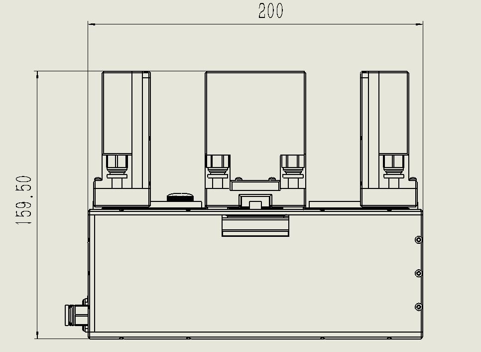 大容量光反应器-后视图